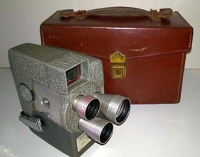 Wollensak Model 43 Movie Camera f/1.8 Lens & Operating Instructions - Vintage