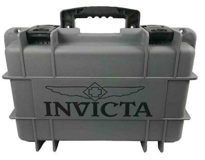 NEW Invicta 8 Slots Impact Diver Grey & Black Impact Resistant Collector Case