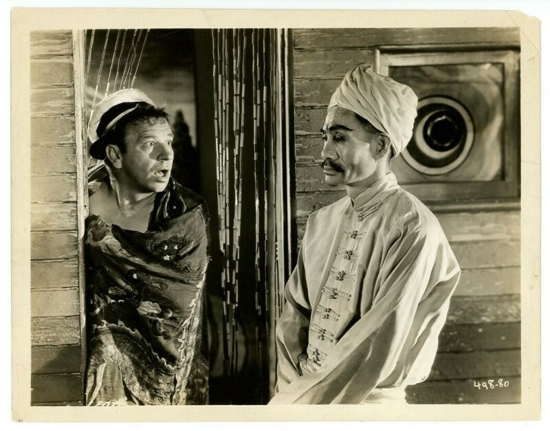 WALLACE BEERY, SOJIN KAMIYAMA original movie photo 1930 WAY FOR A SAILOR