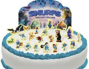 Cakeshop PRE-CUT Smurfs Edible Cake Scene - 23 pieces