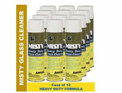 Misty Heavy Duty Glass Cleaner 19 Oz 1001482 (Case of 12) Professional Formula Case 19 Ounce Aerosol