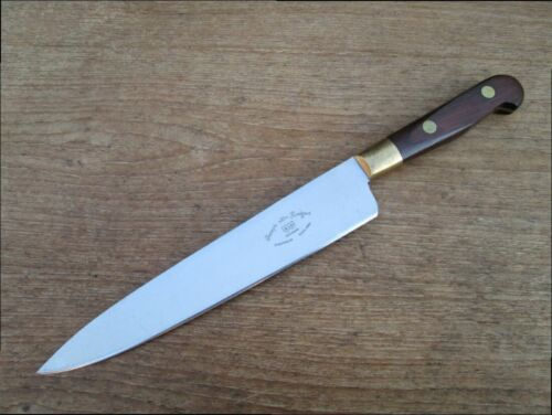 FINEST Vintage Jos. Rodgers Sheffield Chef Knife w/Rosewood Handle, RAZOR SHARP