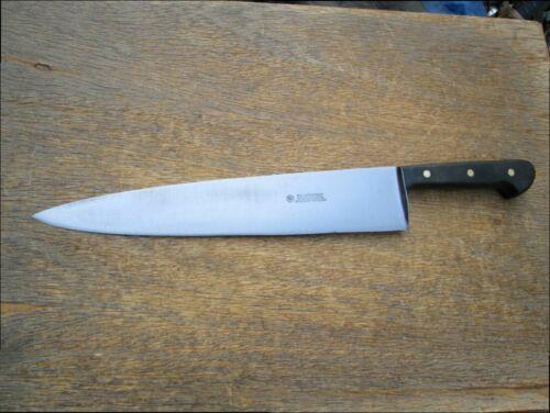 FINEST Vintage WUSTHOF Carbon Steel XXL Chef Knife w/Ebony Handles RAZOR SHARP
