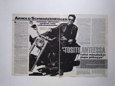 Arnold Schwarzenegger Last Action Hero Steve Harris Iron Maide clippings Finland](Arnold Maid)