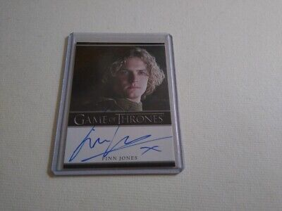 Finn Jones Tyrell Game of Thrones season 2 autograph card Iron Fist The Defender