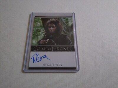 Natalia Tena Game of Thrones season 2 autograph card Harry Potter Black Mirror