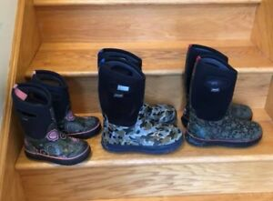 Girls and boys BOGS winter boots