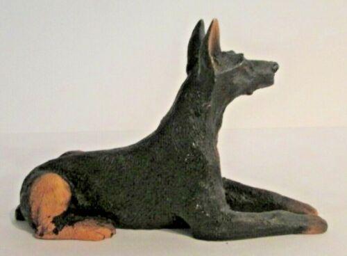 Black Doberman Pinscher Dog Figurine Collectable