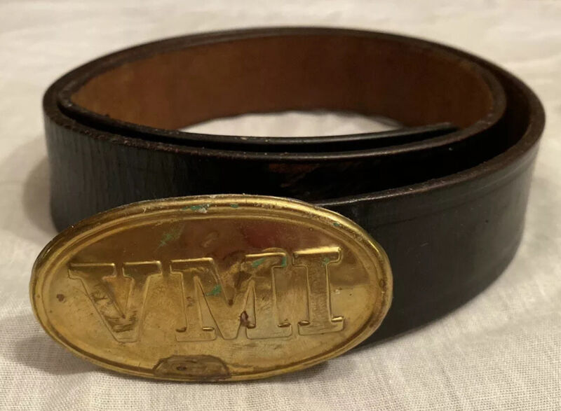 VIRGINIA MILITARY INSTITUTE VMI Brass Belt Buckle FIRST CLASS PRIVATE BUCKLE