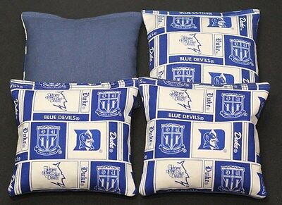 DUKE UNV. 4 CORNHOLE BEAN BAGS ACA Regulation Blue Devils Game Toss Bags Duke Bean Bag