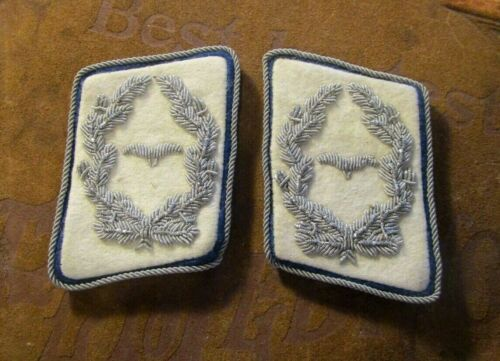 Pair Original WW2 German Luftwaffen Officers Collar Boards