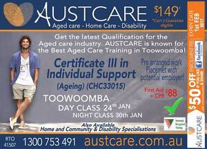 AGED CARE COURSE NIGHT CLASSES. Jan 2017 - Toowoomba Blue Care Toowoomba Toowoomba City Preview