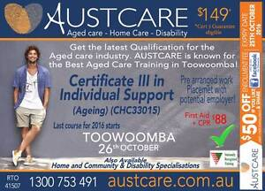 AGED CARE COURSE Toowoomba 26th October 2016 Toowoomba Toowoomba City Preview