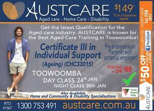 Toowoomba's BEST AGED CARE COURSE 24th Jan 2017 Day & Night class Toowoomba Toowoomba City Preview