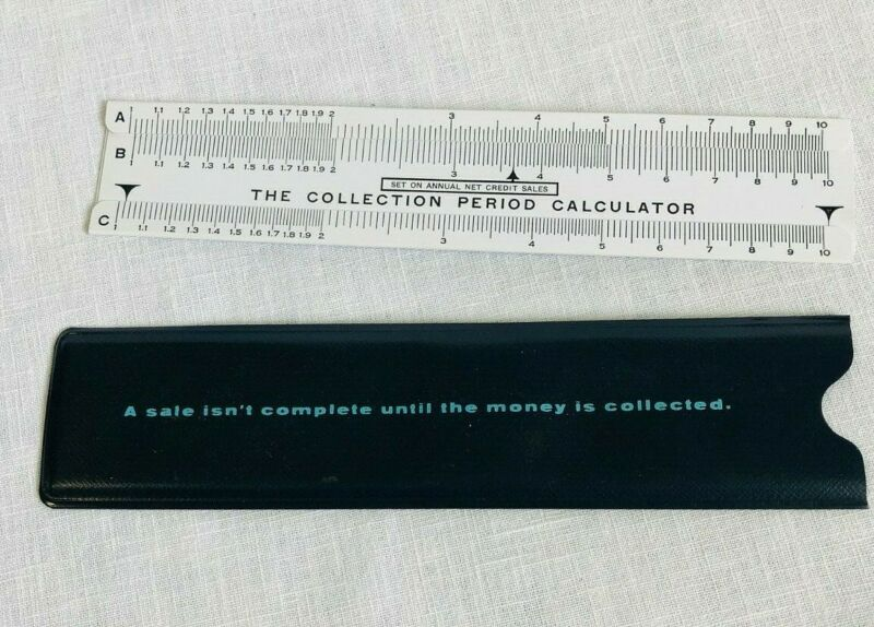 Vintage Dun & Bradstreet Inc Collection Period Calculator in Original Case