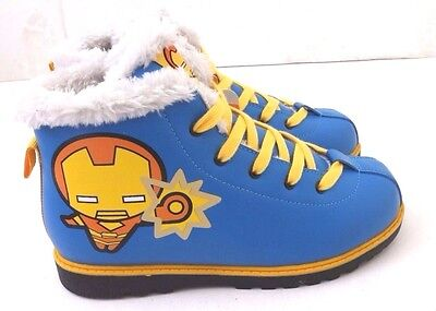 Exclusive Kid Shoes (Exclusive Marvel Iron Man 361 Kids Blue Laced Winter Boots Youth Size 4)