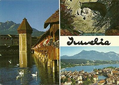 Switzerland JUWELIA'S ADVERTISING CARD - LUCERN : Unposted