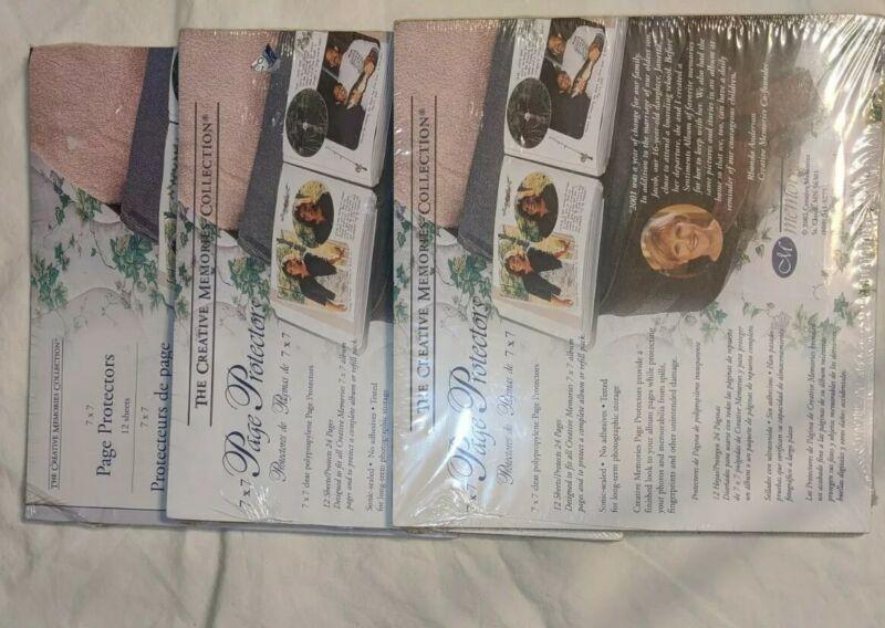 Lot:3 Pkg (12) Creative Memories PAGE PROTECTORS 7x7 Scrapbook Album Refill CM J