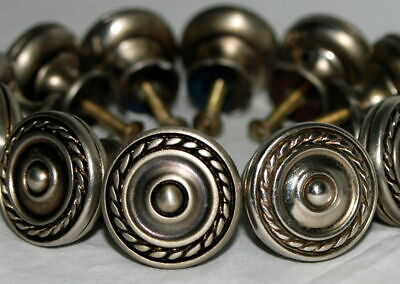 Lot 30 Drawer Pull Handle Knob 4.5 Inch Cast Metal DIMPLED Polished Antique NOS