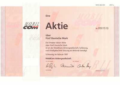 Mobilcom AG rot 5 DMaus 1997