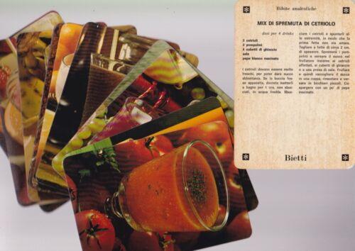 lotto 16 cartoline ricetta COCKTAIL ANALCOLICI edite da Bietti barman