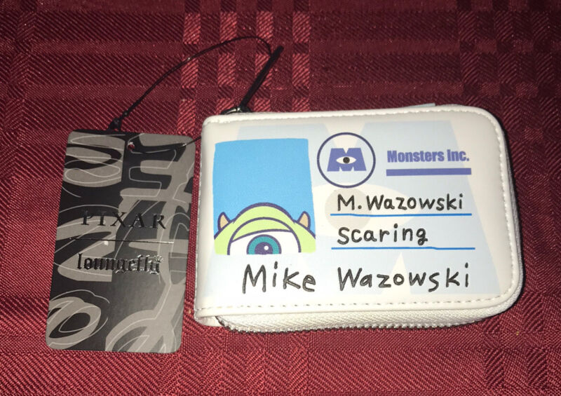 LOUNGEFLY X Disney Pixar Monsters Inc. Mike and Sully Cardholder Wallet NEW