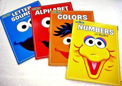 SESAME STREET, ALPHABET,COLORS, NUMBERS, LETTER, SOUNDS, WORKBOOKS Set-4 NEW! - Sesame Street Set