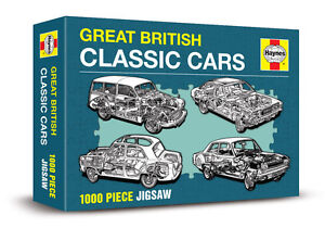 GREAT BRITISH CLASSIC CARS - HAYNES 1000 PIECE JIGSAW ( New & sealed )