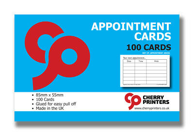 Cherry Appointment Card Pad 85mm X 55mm 100pages 350gsm