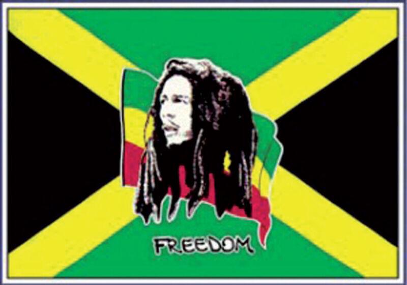 5ft x 3ft Flag - Bob Marley and Jamaica