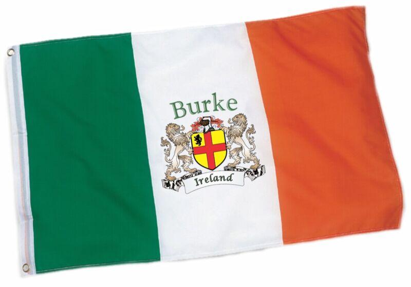 Burke Irish Coat of Arms Ireland Flag - 3