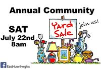 East Huron Heights Annual Yard Sale