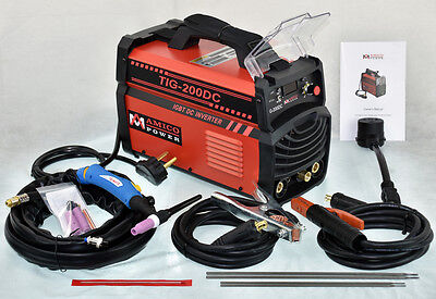 Tig-200dc 200 Amp Tig-torch Stick Arc Dc Welder 115230v Dual Voltage Welding