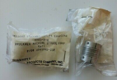 Helical 4085-8-8 Flexible Shaft Coupling Qty 2 New