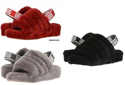 UGG Australia Fluff Yeah Slide Sandals for Women Black, Red, Charcoal *NIB*