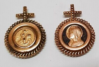 Antique Medal Pendant Car Magnet st Christopher Virgin Gold Plated H7