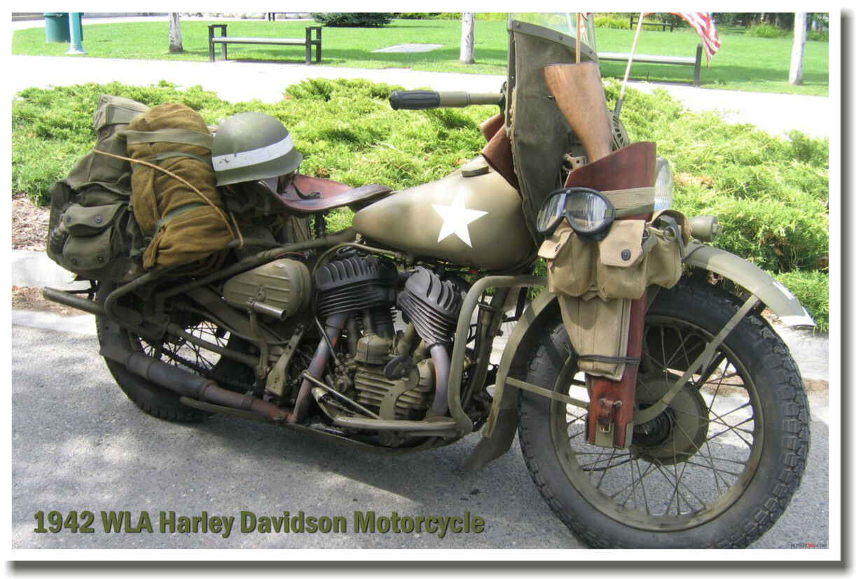 1942 wla harley davidson motorcycle military army wwii. Black Bedroom Furniture Sets. Home Design Ideas