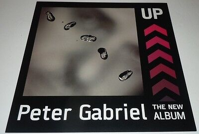 PETER GABRIEL~UP~Promo Poster Flat~Double Sided~12x12~NM Condition~2002
