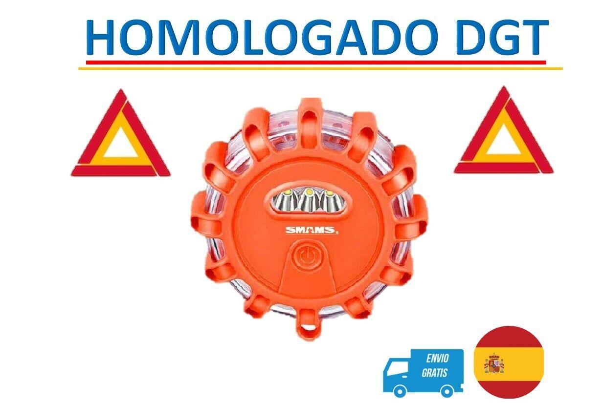 SMAMS Luz de emergencia V-16 homologada DGT visible mas de 1000mts triangulo