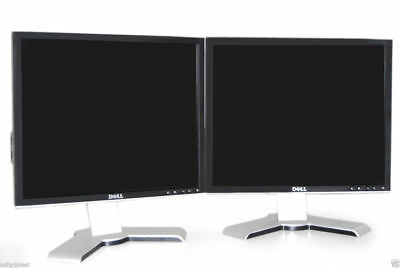 Dual Dell UltraSharp 1908FP Silver/ Black 19-inch Gaming LCD Monitors W/USB Hub