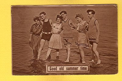 Good old summer time, 3 couples in water, ladies with