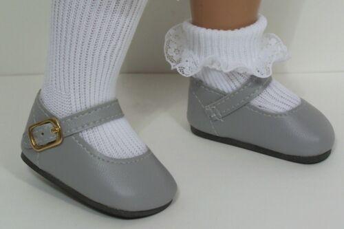 """GRAY Basic LL Doll Shoes FOR 16""""- 17"""" Sasha (Debs)"""