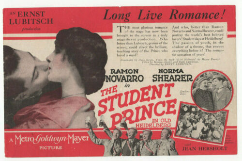 RAMON NOVARRO 1927 Norma Shearer THE STUDENT PRINCE Silent Film MOVIE HERALD