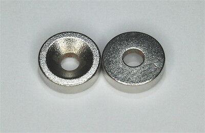10x Magnete Neodym-Scheiben 15mm x 4mm m.Loch f. Senkschrauben NdFeB N35 rund PP