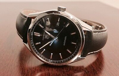 Tag Heuer Carrera Calibre 5 Automatic Watch - Black Face - Mens