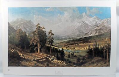 Vintage Albert Bierstadt Estes Park Colorado Landscape Americana LITHOGRAPH (Albert Bierstadt Estes Park)