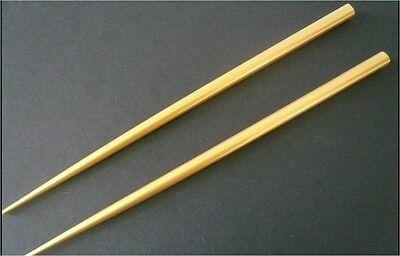 Japanese 2 pcs. Stick Kanzashi Gold Wood Lacquer Chopsticks Hair Ornaments