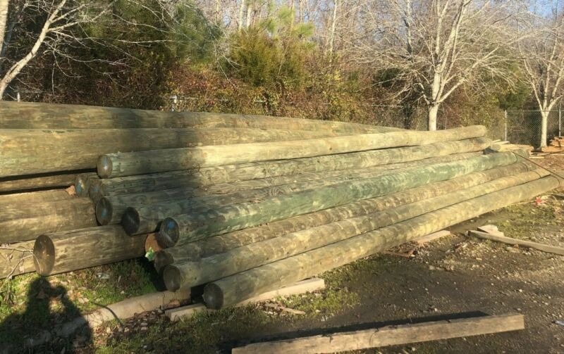 New Treated Telephone Poles 40' Class 3 For Posts, Barns, Lighting