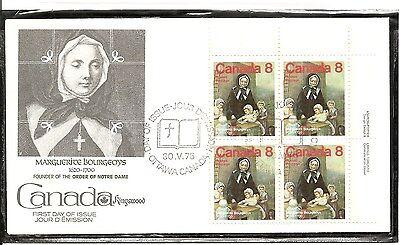 Canada SC # 660 Marguerite Bourgeoys FDC. Inscription BLK4. Kingswood Cachet