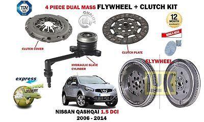 FOR NISSAN QASHQAI 1.5 DCI K9K 2006-2014 NEW DUAL MASS FLYWHEEL + CLUTCH KIT